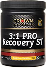 Crown Sport Nutrition 3 1 PRO Recovery Supplement for Athletes with Scientific Study by University of Greenwich and Banned Substance Tested by Informed Sport Vanilla Flavor – 590 g Estimated Price : £ 39,95