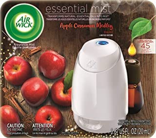 Air Wick Air Wick Essential Oils Diffuser Mist Kit (Gadget + 1 Refill), Apple Cinnamon Medley
