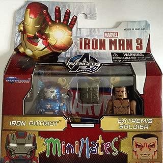 Marvel Iron Man 3 Minimates Iron Patriot and Extreme Soldier 2 pack minimates