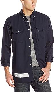 Bulwark Men's Flame Resistant 7 Oz Cotton/Nylon ComforTouch Button Collar Uniform Shirt