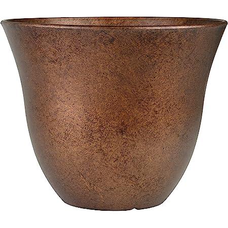 Classic Home and Garden Honeysuckle Patio Pot Garden Planter, 13 Inch, Distressed Copper