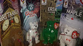 McDonald's Erin, Britannia, Glory, and Maple Ty Beanie Babies Bear