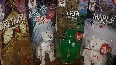McDonald's Erin, Britannia, Glory, and Maple Ty Beanie Babies Bear