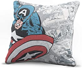 Jay Franco Marvel Avengers Americana Decorative Pillow Cover - Kids Super Soft 1-Pack Throw Pillow Cover Features Captain America - Measures 15 Inches x 15 Inches (Official Marvel Product)