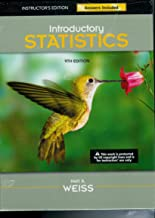Introductory Statistics 9th Edition: Instructor's Edition Answers Included