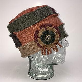 product image for Baabaazuzu Women's Orange, Tan & Green Wool Cloche Hat (Made in USA, Vintage-Inspired, Fleece Lined)