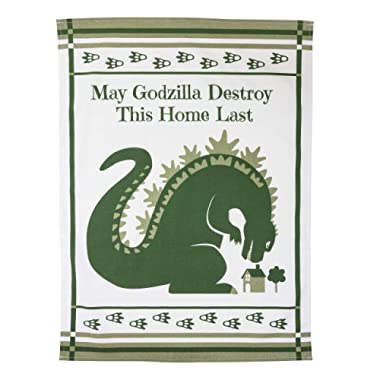 getDigital Dish Cloth May Godzilla Destroy This Home Last - A funny Home Blessing Kitchen Towel for Geeks and Monster Movie Fans - 100% Cotton, Absorbent and Machine Washable