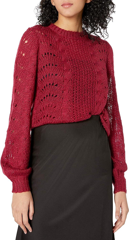 Jessica Simpson Women's Hazel Stylish Pointelle Pullover Sweater