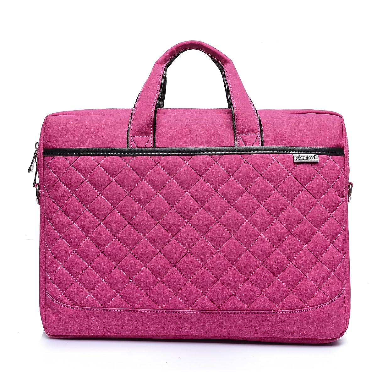 ZYSTERT 15.6-Inch Laptop Bag Shoulder Bag With Strap Multi-Compartment Messenger Hand Bag Briefcase for Laptop/iPad Pro/Tablet/Macbook/Ultrabook/Men/Women (Pink)