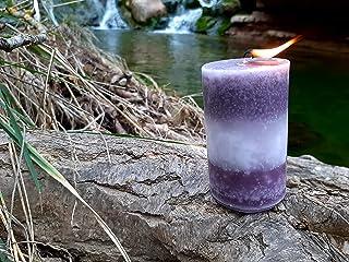 Vela Artesanal aroma Almizcle efecto marmolizada naturaldreams8.