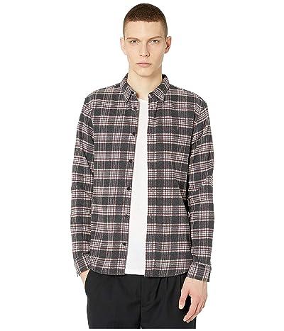 AllSaints Gaines Long Sleeve Shirt (Charcoal) Men
