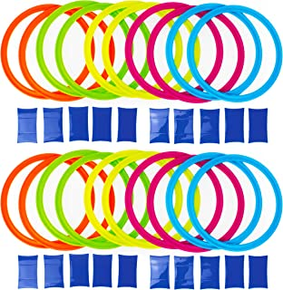 Boley Party Pzazz Hopscotch Ring Set with 20 Hoops and 20 Connectors - Great for Outdoor Play at The Park for Boys and Girls