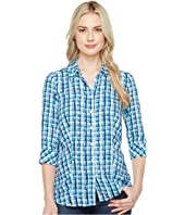 FDJ French Dressing Jeans - Painterly Plaid Top