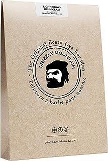 Tinte natural para barba en color castaño claro