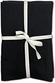 Moli Cloth Napkins Egyptian Cotton Dinner Linen Set of 12 Pack Lunch Reusable Fabric Napkin Table Linens Servilletas de Tela Restaurant Tabel Linnen Bulk Sets Eco (New Black)