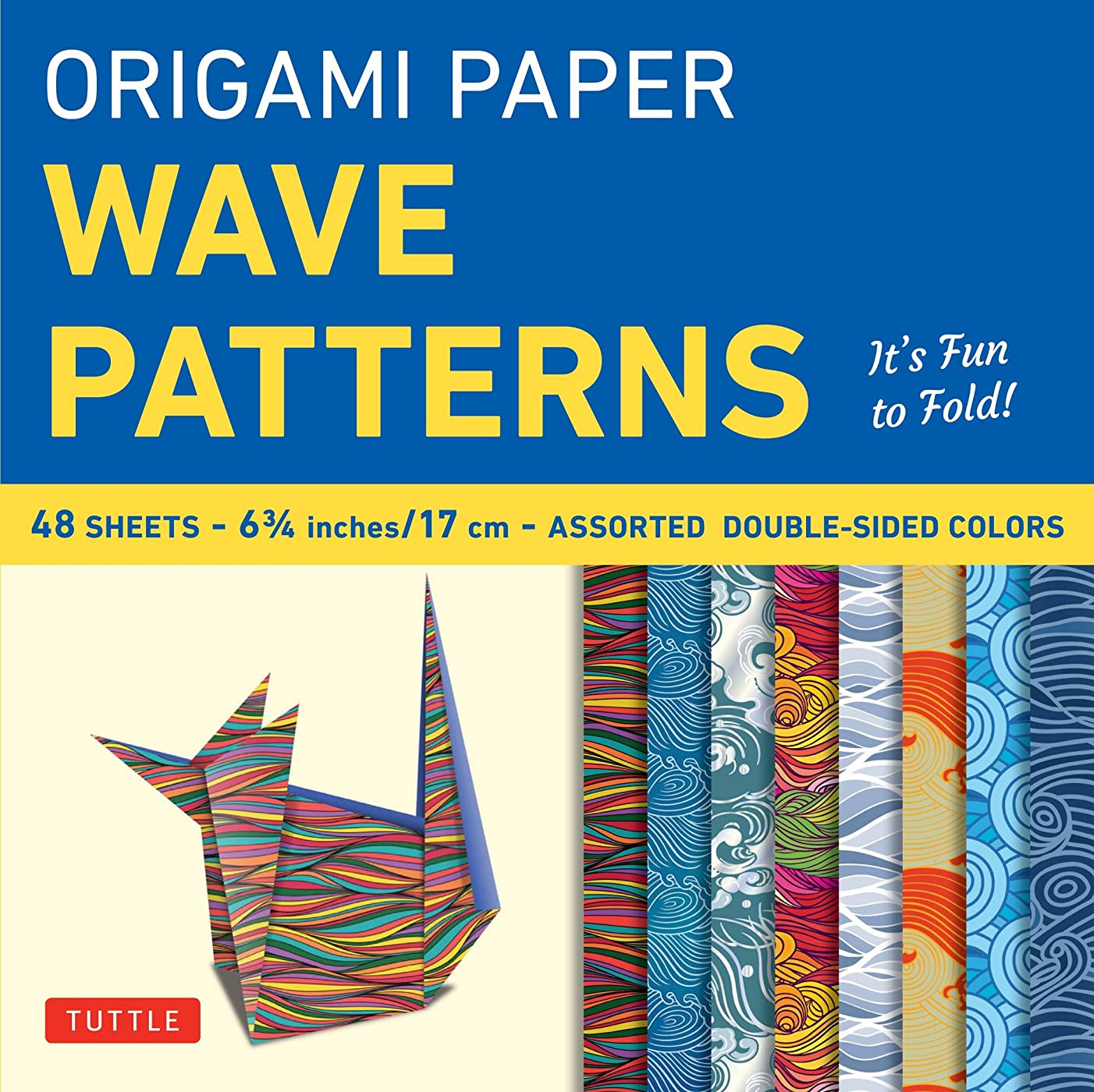 Origami Paper - Wave Patterns - 6 3/4 inch - 48 Sheets: Tuttle Origami Paper: High-Quality Origami Sheets Printed with 8 Different Designs: Instructions for 8 Projects Included