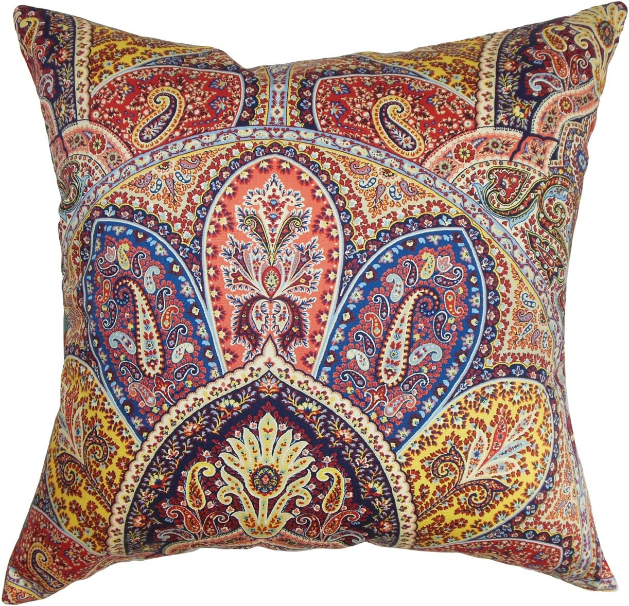 The Pillow Collection Lehana Paisley Multicolor Blue Ranking integrated 1st place Detroit Mall