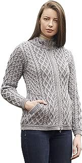 Aran Crafts Short Plated Coat (100% Merino Wool)