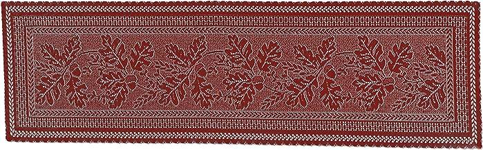 Heritage Lace Dark Paprika Oak Leaf Table Runner