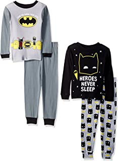 Boys' Batman 4-Piece Cotton Pajama Set
