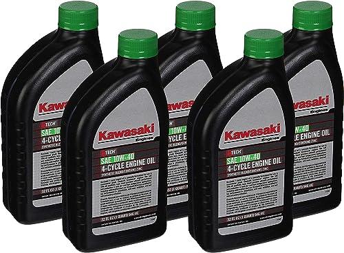 discount Pack sale of 5 Kawasaki 99969-6296 Genuine OEM K-Tech SAE 10W-40 4-Cycle wholesale Engine Oil sale