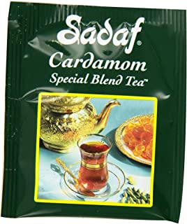 Sadaf Special Blend Tea with Cardamom Flavor, 50 Tea Bags
