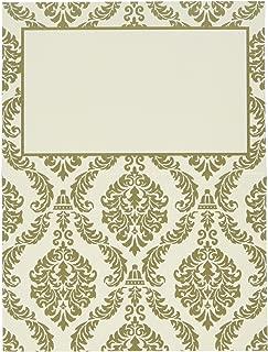 Darice, David Tutera, 25 Piece, Damask Trim Place Cards, Gold and Ivory