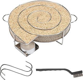riijk Kalrökgenerator för kallrökning i rökaren, grillen etc. | Rökelsesnigel rund snigel – Sparbrand kalrökspån | Rökelse...