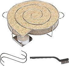 riijk Kaltrauchgenerator zum Kalträuchern im Smoker, Grill usw. | Räucherschnecke rund Schnecke – Sparbrand Kaltraucherzeuger | Räucherspirale für Räucherspäne | Gratis Haken und Bürste