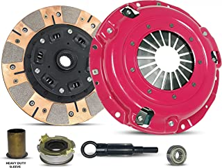 Clutch Kit And Sleeve Works With Subaru Forester Impreza Legacy X Base Limited Premium Touring Outback L H6 L.L. Bean VDC Sedan Wagon 1996-2012 2.0L H4 2.5L H4 3.0L H6 (Dual Facing Disc Stage 2)