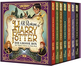 Harry Potter. Die grosse Box zum Jubilaeum. Alle 7 Baende.: Gelesen von Rufus Beck