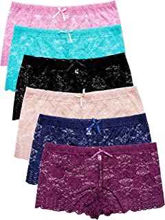 725f4c1699d Barbra s 6 Pack of Women s Regular   Plus Size Lace Boyshort Panties