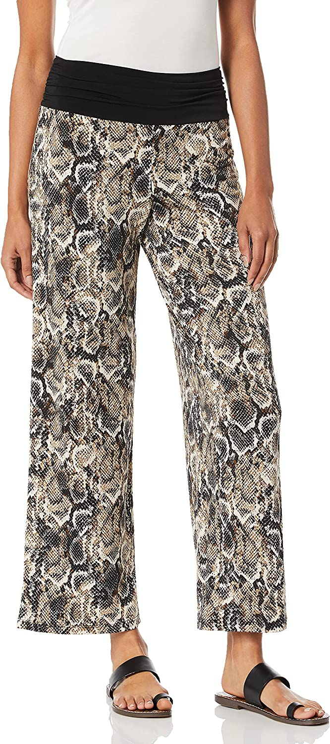 AGB Women's Wide Leg Pull on Pants