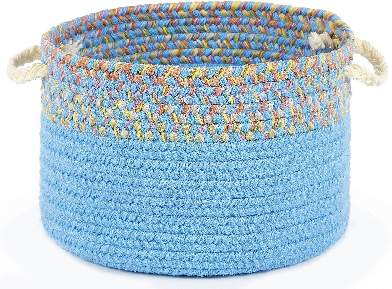 Kidding Aqua Blue Deluxe Banded Basket 14
