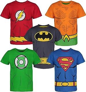 Justice League Toddler Boys' 5 Pack T-Shirts - Batman, Superman, The Flash, Green Lantern and Aquaman