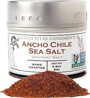 Gustus Vitae Ancho Chile Sea Salt, 2.8 Ounce