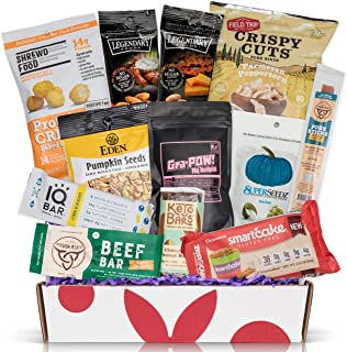 KETO Snack Box: Best Keto Snacks and Treats - Low Carb (5G or less) Low Sugar (2G or less) High Fat Keto Friendly Snacks - Great Keto Christmas Basket Healthy Care Package