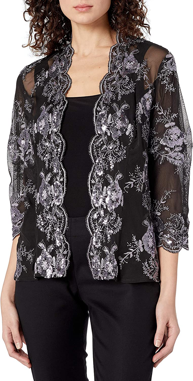 Latest item Alex Evenings Women's Embroidered Twinset and Jacket Tank Popular Pe Top