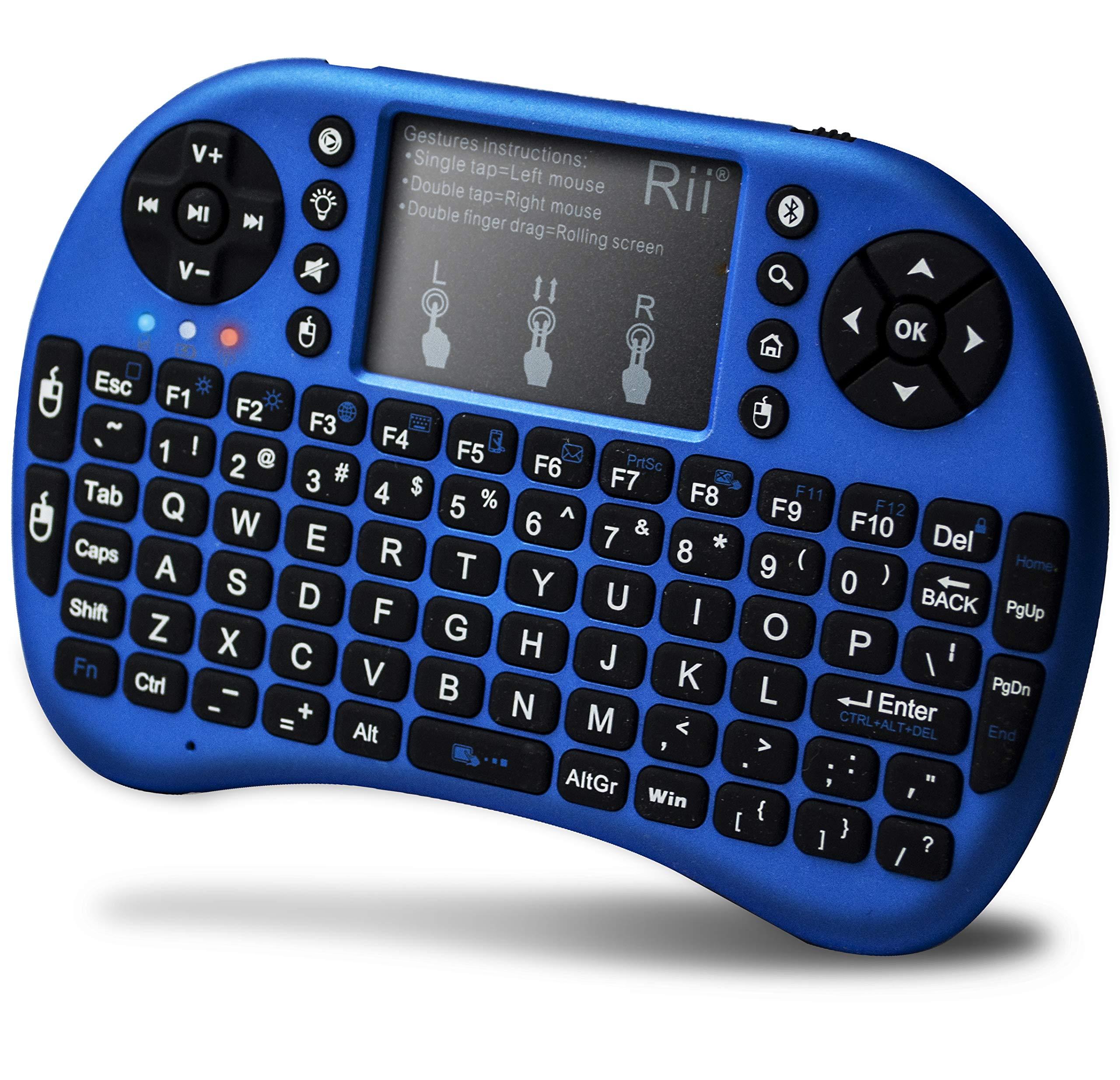 Rii i8 Wireless Touchpad Blue
