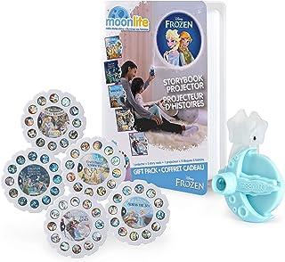 Moonlite, Paquete de Regalo de Frozen con proyector de Cuentos para Smartphones y carretes de 5 Historias