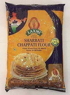Laxmi Brand All-Natural Sharbati Chappati Flour, 4lb Bag