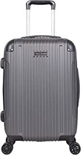"Ben Sherman Heathrow Haul 20"" Lightweight Hardside Expandable 8-Wheel Spinner Carry-On Suitcase, Charcoal"
