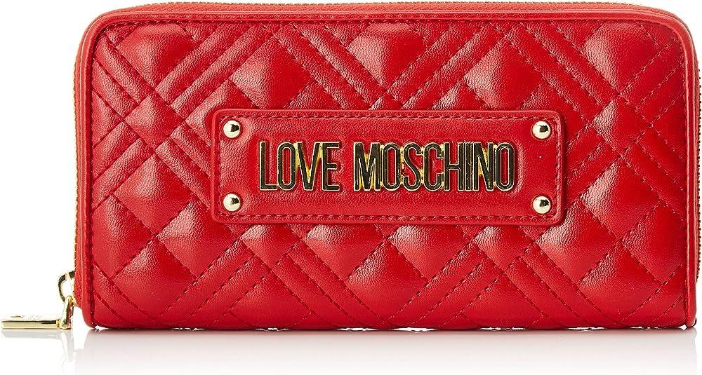 Love moschino porta carte di credito portafogli per donna in pelle sintetica JC5620PP0A