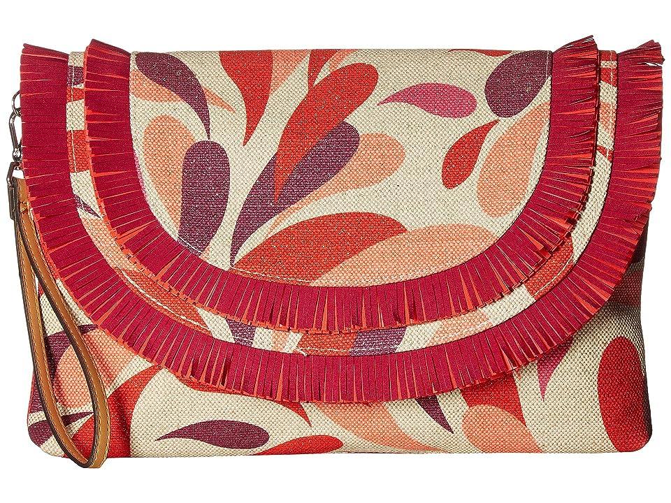 Vera Bradley Fringed Wristlet (Summer Splash) Wristlet Handbags