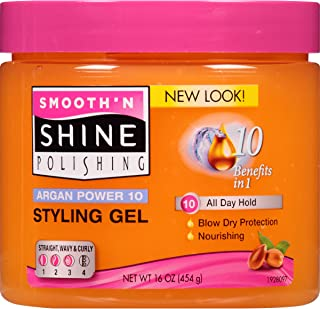 Smooth N Shine Argan Power 10 Nourishing Styling Gel, 16 Ounce