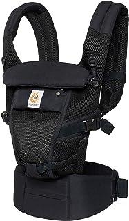 Ergobaby anpassningsbar babybärare för nyfödd till småbarn, cool luftnät 3-positions ergonomisk barnbärarryggsäck, onyx svart