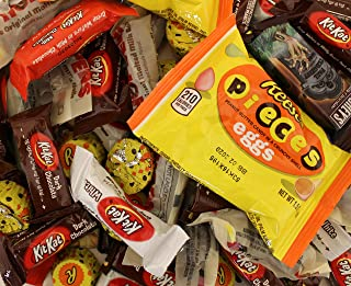 LaetaFood Pack, Halloween Chocolate Candy Assortment - Reese's Pieces Eggs, Kit Kat Dark, White and Milk Chocolate, Whoppers Malted Milk Balls, Nestle Chunch and More (3 Pounds Bag)