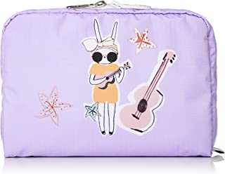LeSportsac Fifi Lapin xxx Night and Day Extra Large Rectangular Cosmetic Bag, Style 7121/Color G627, Bunny Rabbit Zipper Pull