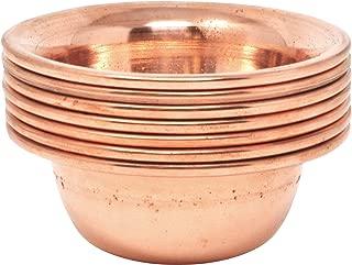 Mudra Crafts Set of 7 Copper Brass Yoga Meditation Altar Tibetan Buddhist Supplies Offering Bowls (3.25 Inches, Copper Tone)