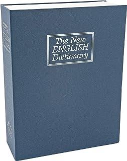 Southern Homewares Large New English Dictionary Hidden Secret Diversion Lock Box Book Safe, Blue, 2.625 x 7.875 x 10.5-inch